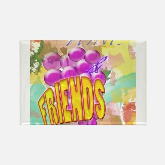 Wine & Friends Rectangle Magnet
