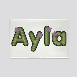 Ayla Spring Green Rectangle Magnet