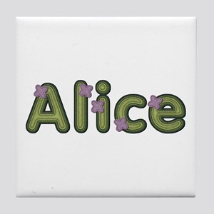 Alice Spring Green Tile Coaster