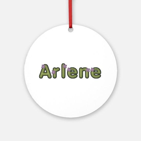 Arlene Spring Green Round Ornament