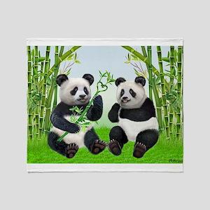 LOVING PANDAS Throw Blanket