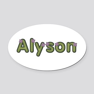 Alyson Spring Green Oval Car Magnet