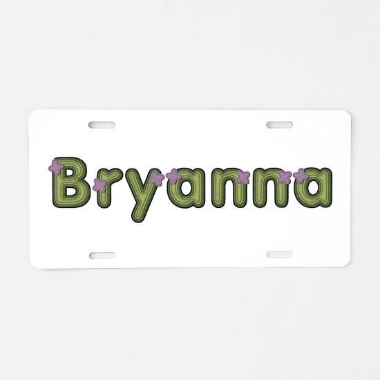 Bryanna Spring Green Aluminum License Plate
