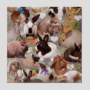 Happy Bunnies Tile Coaster