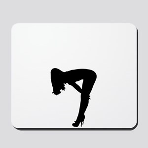 Sexy Pin Up Girl Silhouette Mousepad