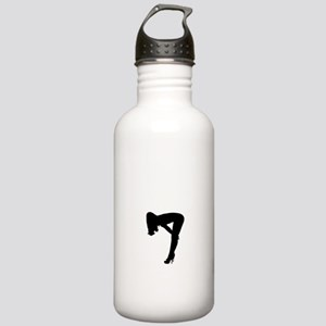 Sexy Pin Up Girl Silhouette Water Bottle