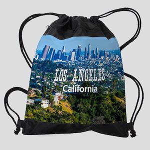 LosAngeles_CA_11x9_Skyline_Downtown Drawstring Bag