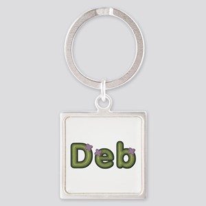 Deb Spring Green Square Keychain