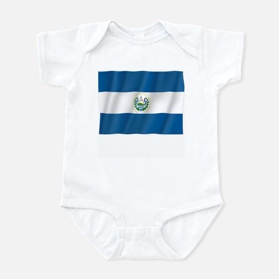Pure Flag of El Salvador Infant Bodysuit