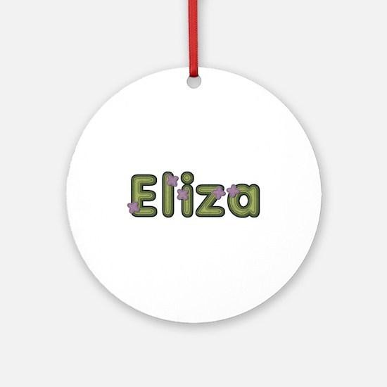 Eliza Spring Green Round Ornament