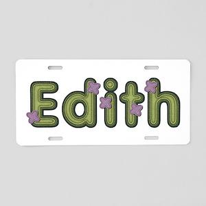 Edith Spring Green Aluminum License Plate