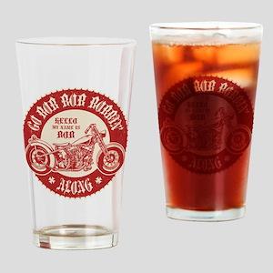 Bobbin' Along Drinking Glass