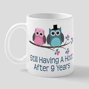 9th Anniversary Owls Mug
