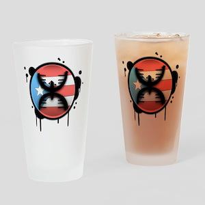 Graffiti Drinking Glass