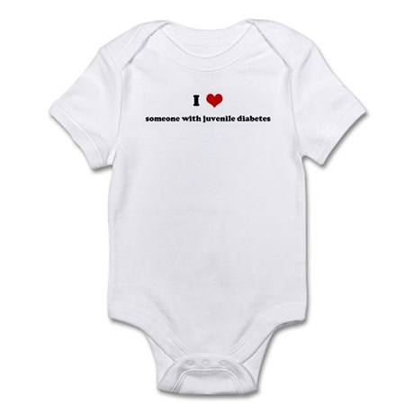 I Love someone with juvenile Infant Bodysuit