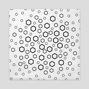 Hexagons in Black. Queen Duvet