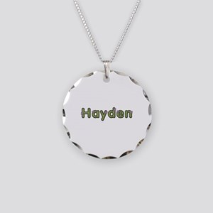 Hayden Spring Green Necklace Circle Charm
