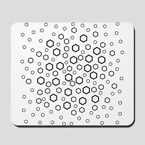 Hexagons in Black. Mousepad