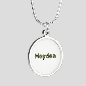 Hayden Spring Green Silver Round Necklace