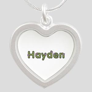 Hayden Spring Green Silver Heart Necklace