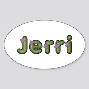 Jerri Spring Green Oval Sticker