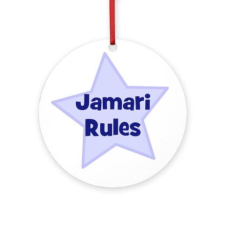 Jamari Rules Ornament (Round)