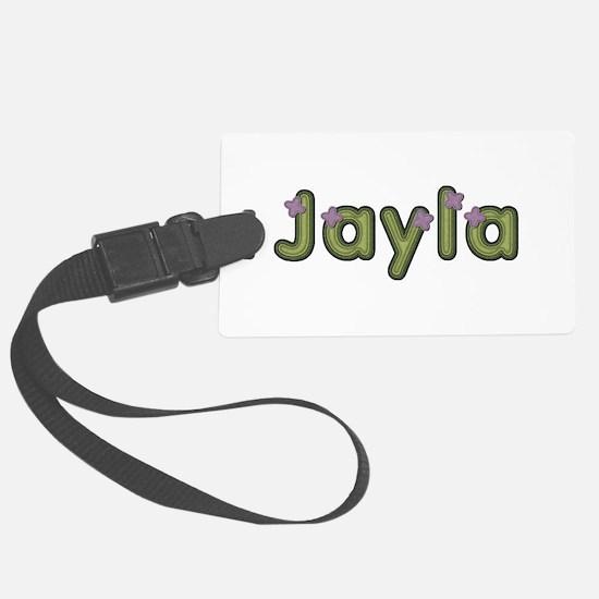Jayla Spring Green Luggage Tag