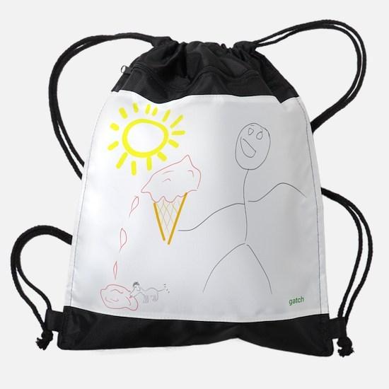 Funny Ice art Drawstring Bag