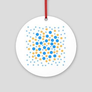 Hexagons Design. Ornament (Round)