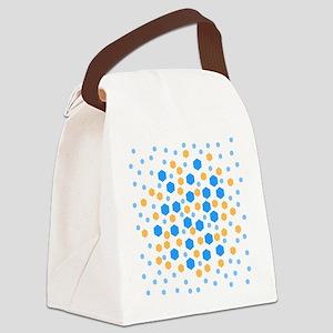 Hexagons Design. Canvas Lunch Bag