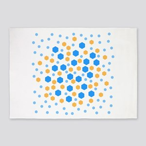 Hexagons Design. 5'x7'Area Rug
