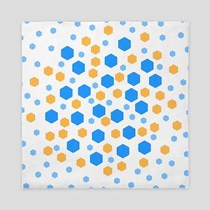Hexagons Design. Queen Duvet