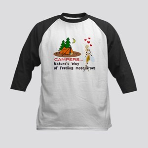Camping: Campers and Mosquitoes Baseball Jersey