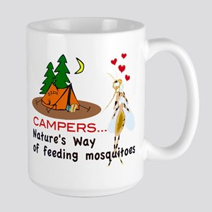 Camping: Campers and Mosquitoes Mug