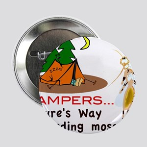 "Camping: Campers and Mosquitoes 2.25"" Button"