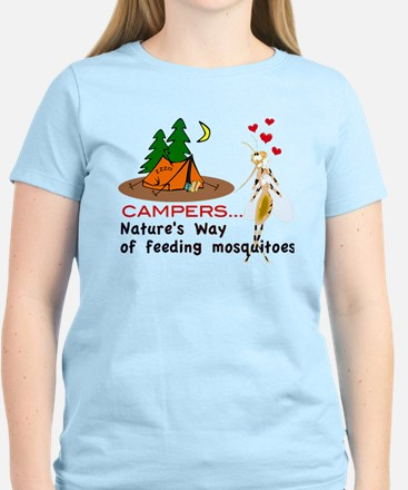 Camping: Campers and Mosquitoes T-Shirt