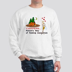 Camping: Campers and Mosquitoes Sweatshirt