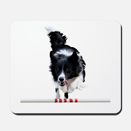 Border Collie jump Mousepad