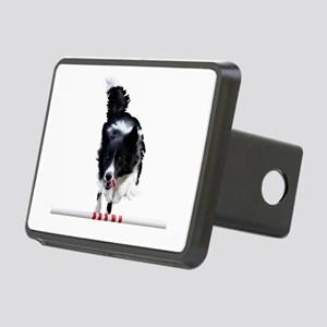 Border Collie jump Rectangular Hitch Cover