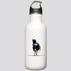Border Collie jump Stainless Water Bottle 1.0L