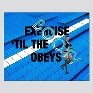 TOP Workout Slogan Small Poster