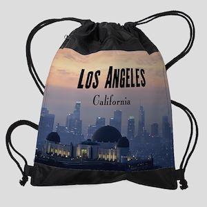 LosAngeles_CA_18x15_Skyline_Downtow Drawstring Bag