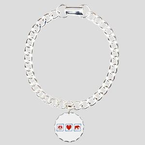 Elephant Charm Bracelet, One Charm