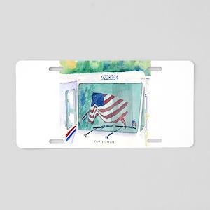 Mail Truck Aluminum License Plate