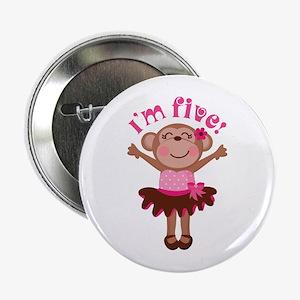 "5th Birthday Monkey 2.25"" Button"