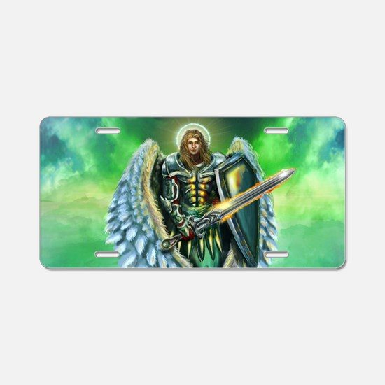 Angel Michael Aluminum License Plate