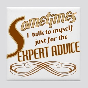 Talk to Myself Tile Coaster