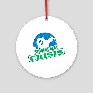Student Debt Crisis Logo Ornament (Round)