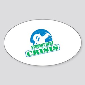 Student Debt Crisis Logo Sticker