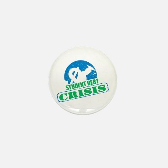 Student Debt Crisis Logo Mini Button